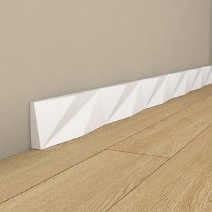 Первази за под бели Origami QS001
