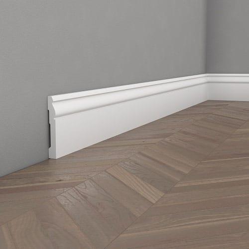 Первази за под бели MD094 9.6 см