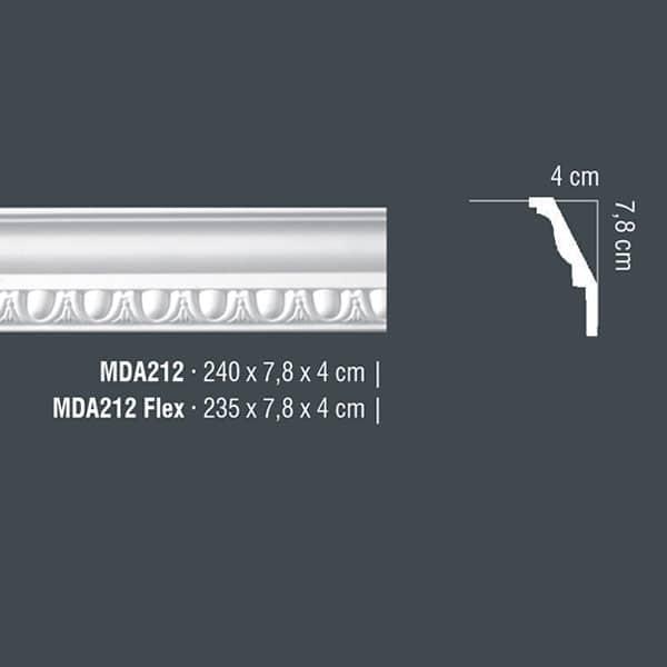 Корнизи полиуретан MDA212
