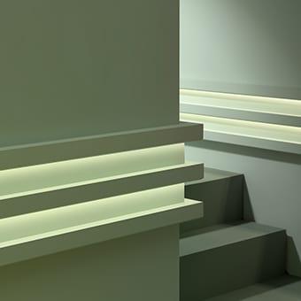 Корниз за скрито осветление C380 интериор 2