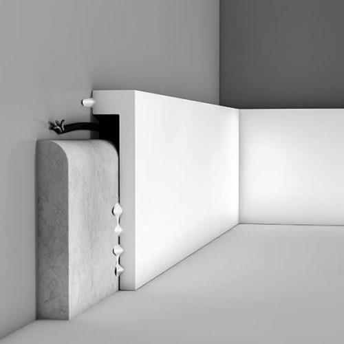 Перваз за скриване на цокъл SX171 лепене
