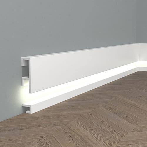 Перваз и корниз за скрито осветление QL019 и QL021