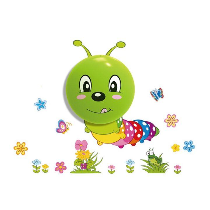 Детска LED лампа със стикери Гъсеница